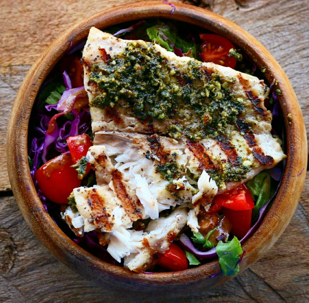 Grilled Fish With Pesto