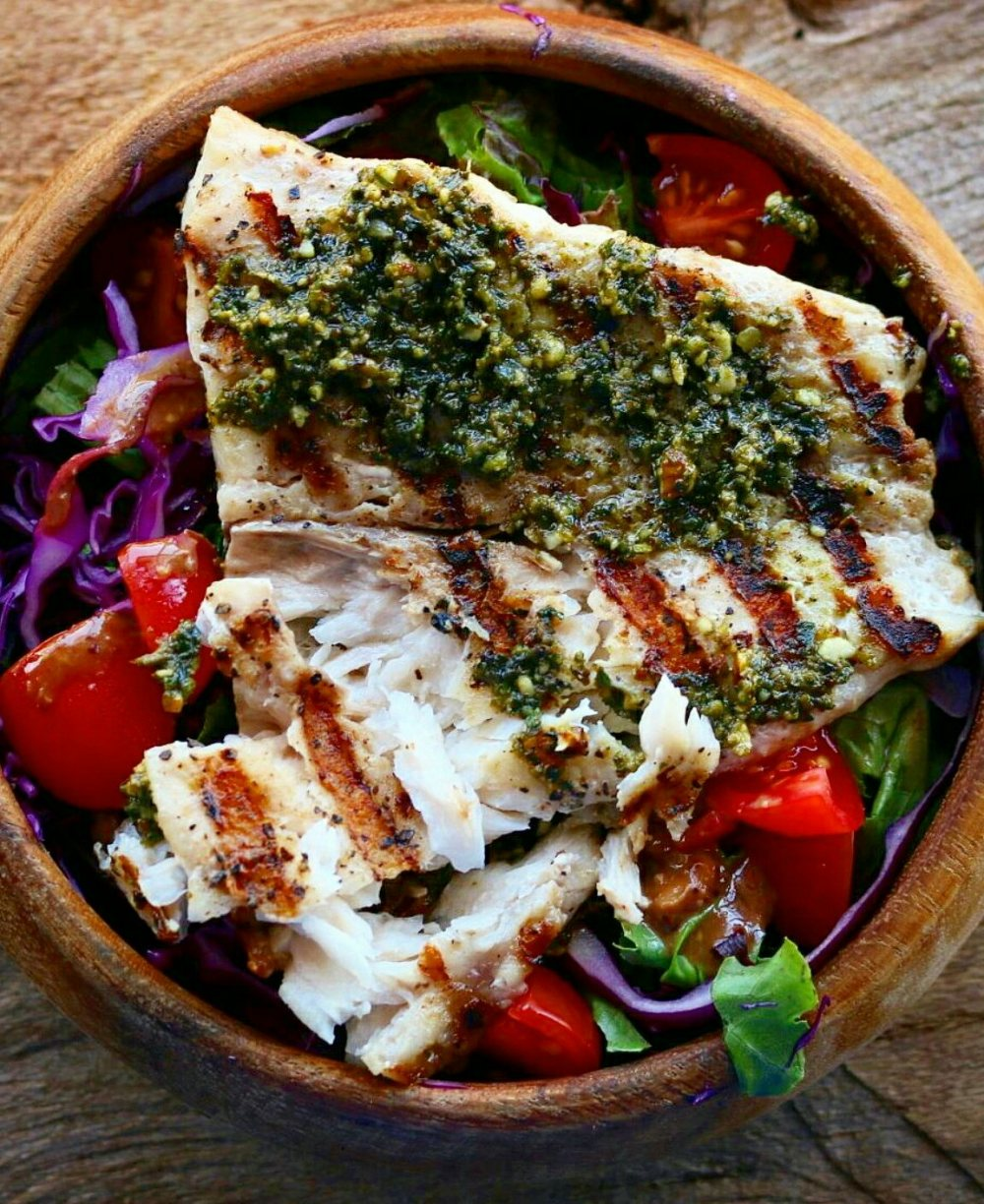 Grilled Tilapia With Basil Pesto