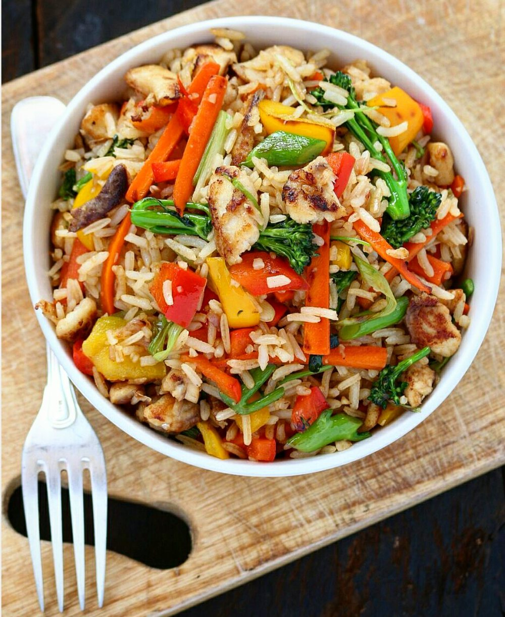 Fish And Vegetables Fried Rice