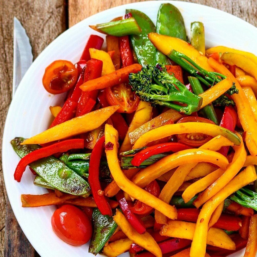 Mango Veggies Stir-fry
