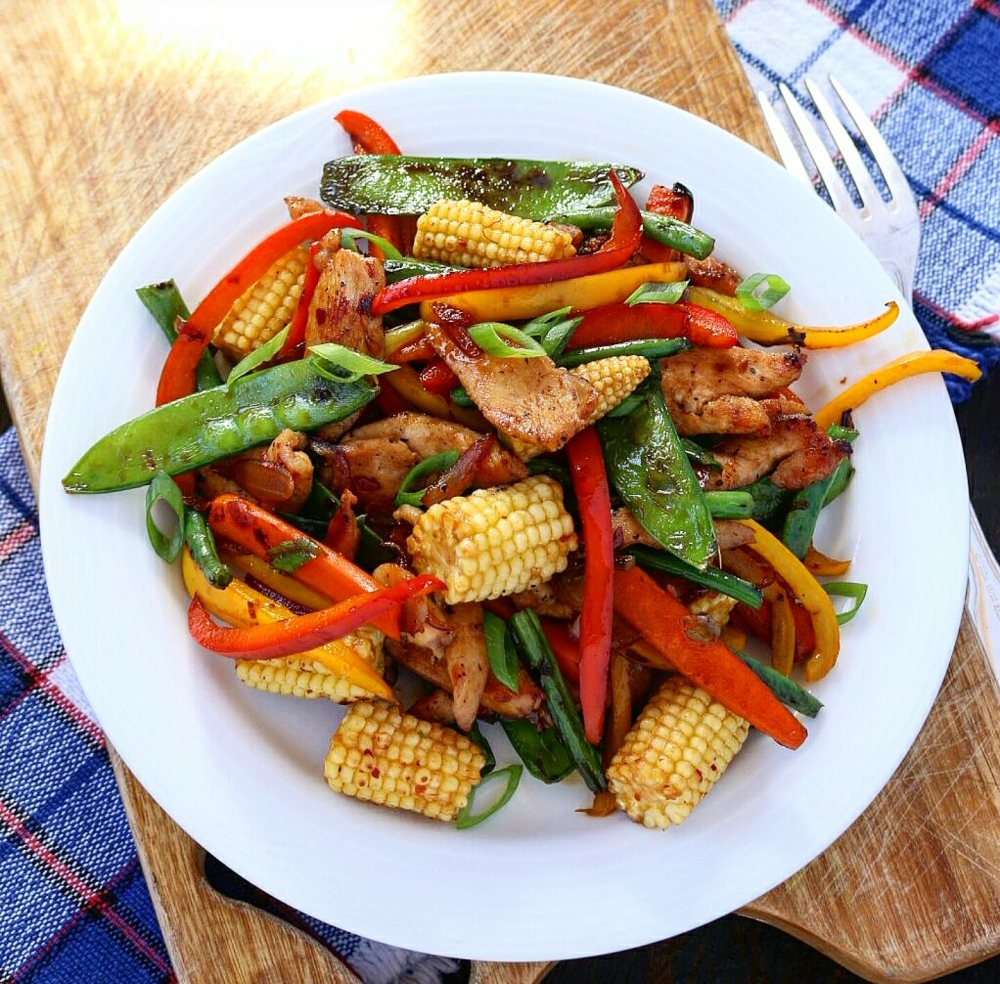 Maple Chicken Veggie Stir-fry